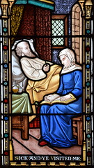 Works of Mercy: 'Sick and ye visited me' (O'Connors? c1870)