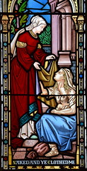 Works of Mercy: 'Naked and ye clothed me' (O'Connors? c1870)