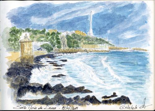 Sketchnotes/watercolor of Santa Maria de Leuca (Puglia, Italy)