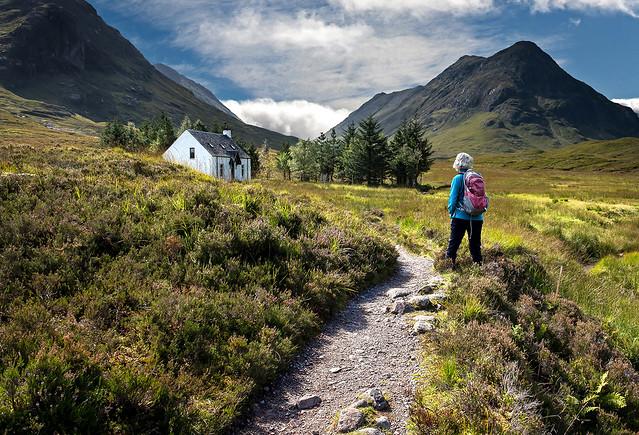 Lagngarbh Hut. on Rannoch Moor Scotland.