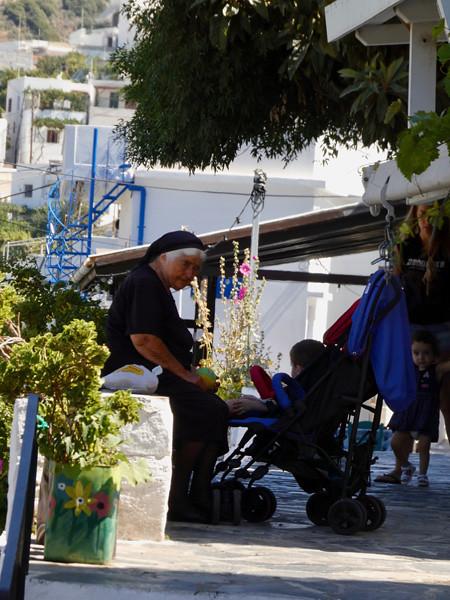 vieille Grecque à Halki