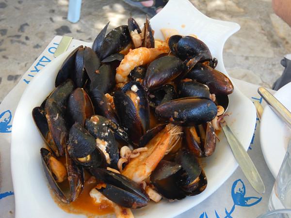saganaki de fruits de mer