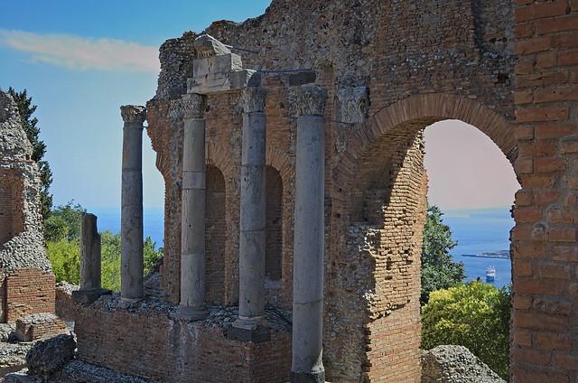 Taormina, teatro grego, Sicilia, Italia