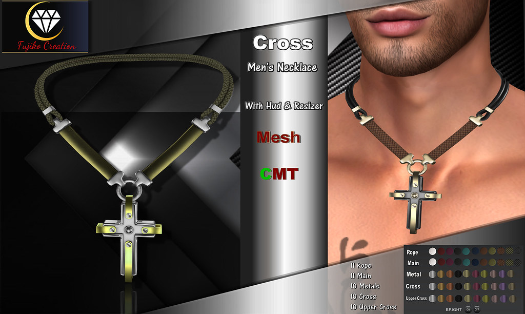 FC – Cross men's MESH necklace