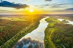 Nemunas river | Kaunas county aerial