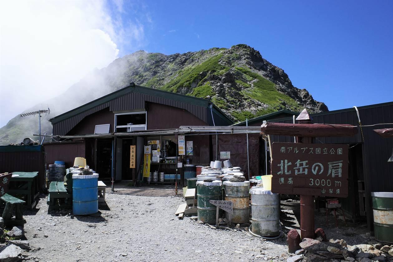 南アルプス北岳肩の小屋