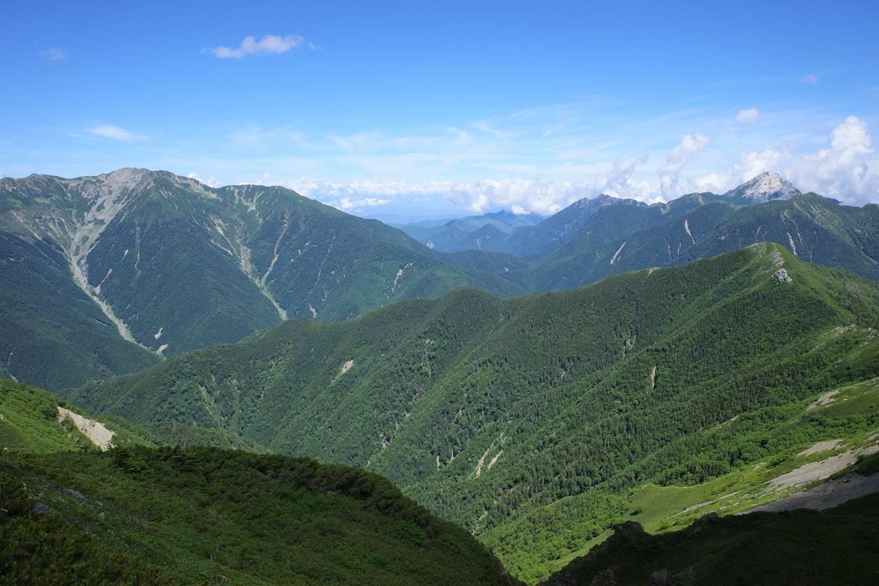 甲斐駒ヶ岳と仙丈ヶ岳