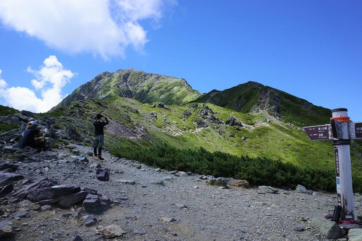 北岳登山 小太郎山分岐