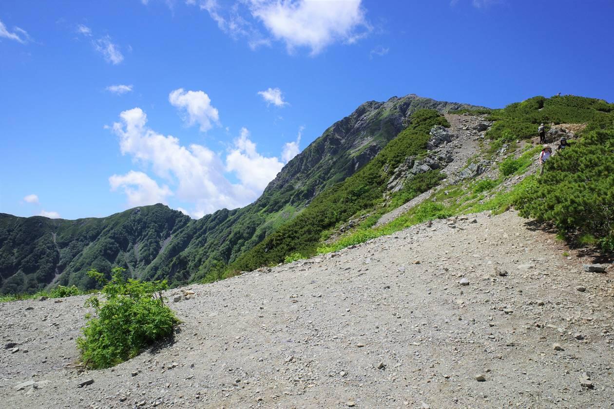 南アルプス北岳 稜線