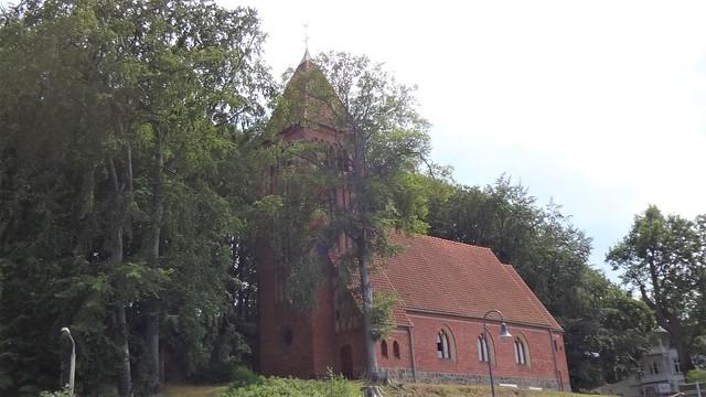 1911/13 Binz neogotische evangelische Dorfkirche in Backstein Bahnhofstraße in 18609