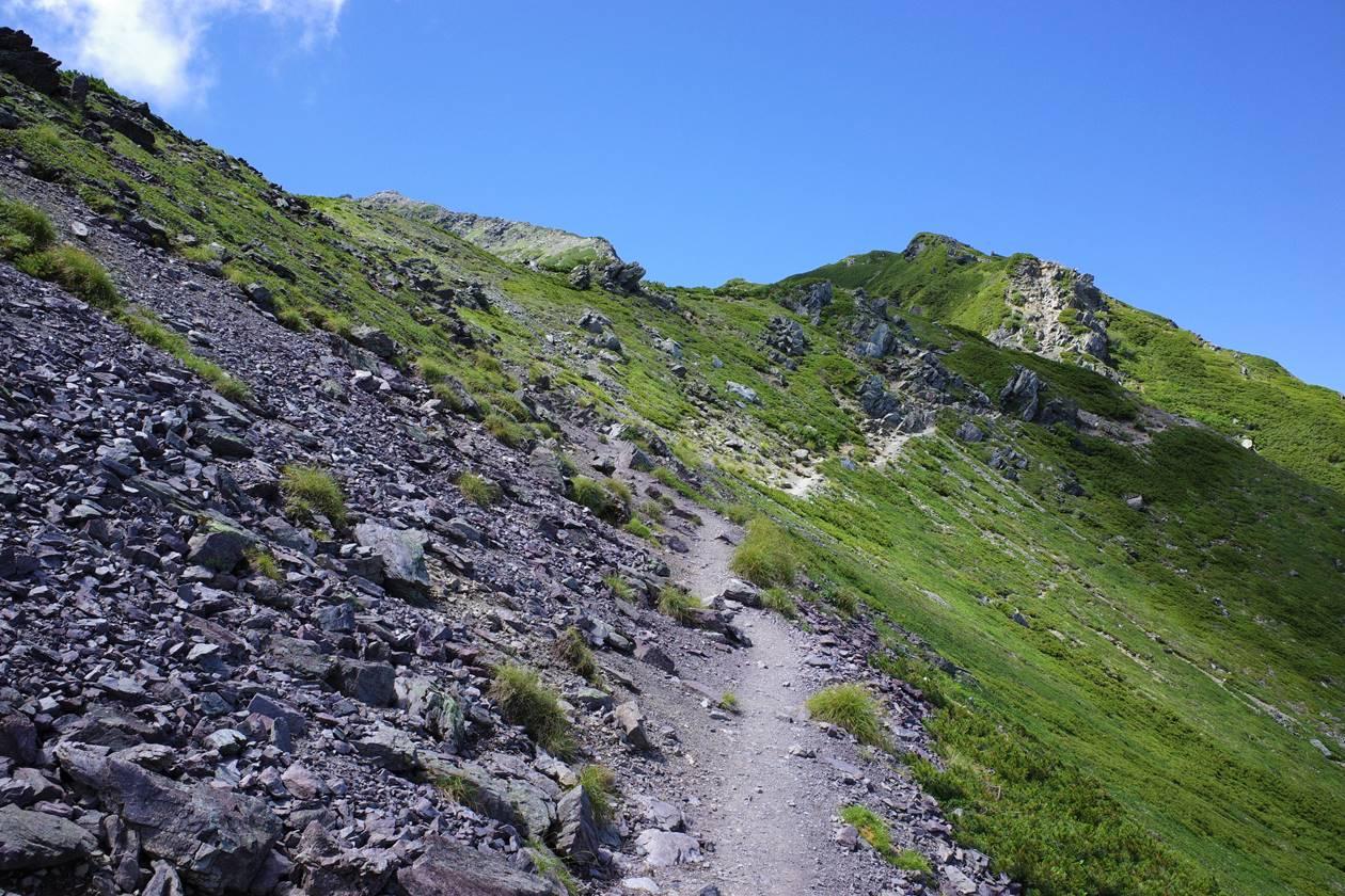 北岳の稜線登山
