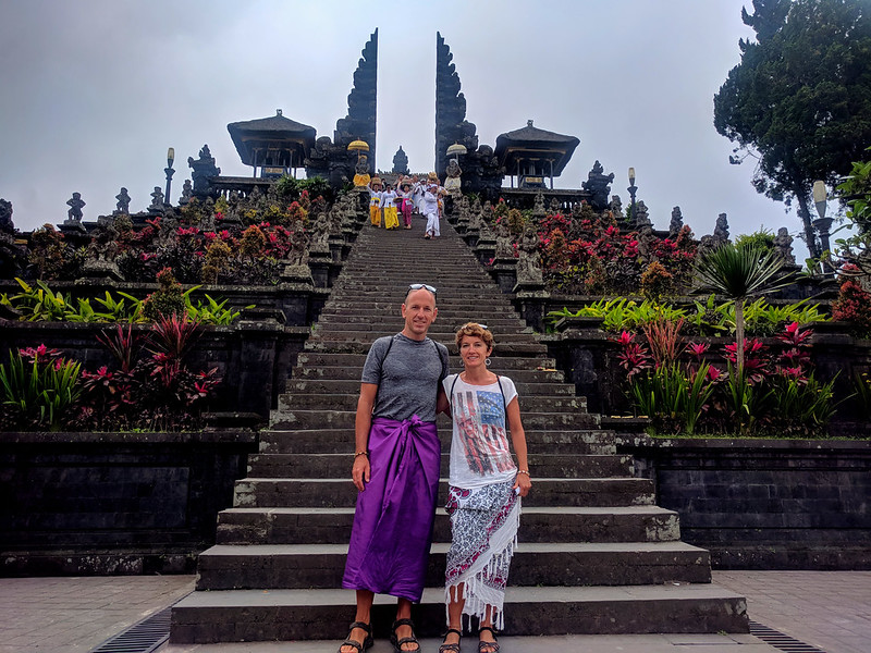 Besakih :  The biggest temple in Bali located at Slope of Mount Agung
