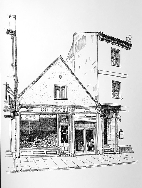 John Oglesby Collection, 17 Gillygate, York (#DrawingAugust, day 15)