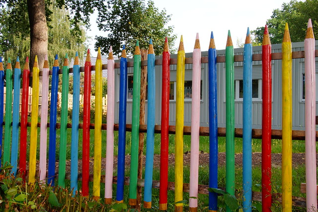 Fence of a small elementary school.