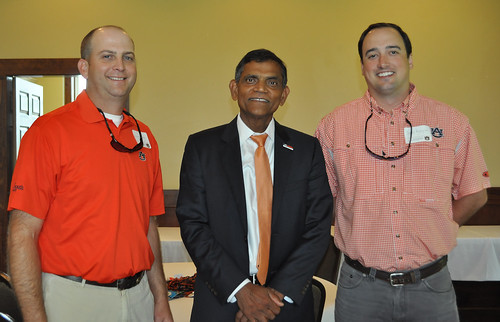 Shown center is Janaki Alavalapati with Hunter Grimes and David Padgett.