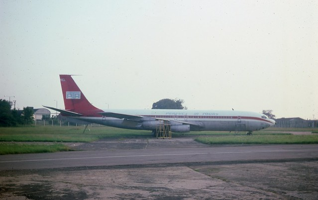 Never to fly again - N702PT Boeing 707-331 of Perfect Air Tours seen stored at London Stansted