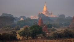 Dawn over Bagan temples