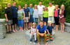 2013 - Frank mit Familie, Erhard und Antje, Lindas Familie. Vorn Lindas Jüngster in der Mitte und daneben Erhards Kinder.