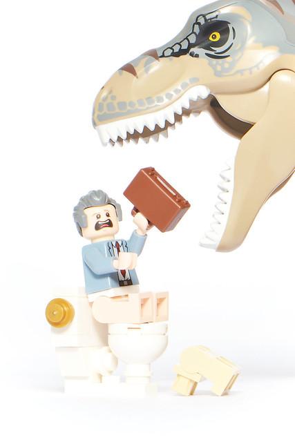 LEGO Donald Gennaro Vs T-Rex