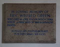 died in Indo-China whilst a Prisoner Of War in Japanese hands