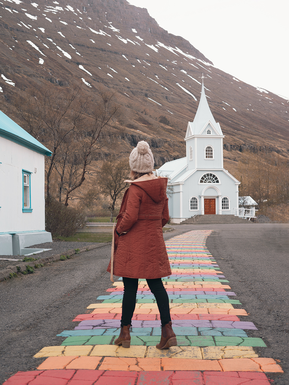 21iceland-seydisfjordur-bluechurch-rainbowroad-travel