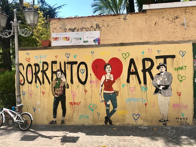 Sorrento art be rude not to take a picture