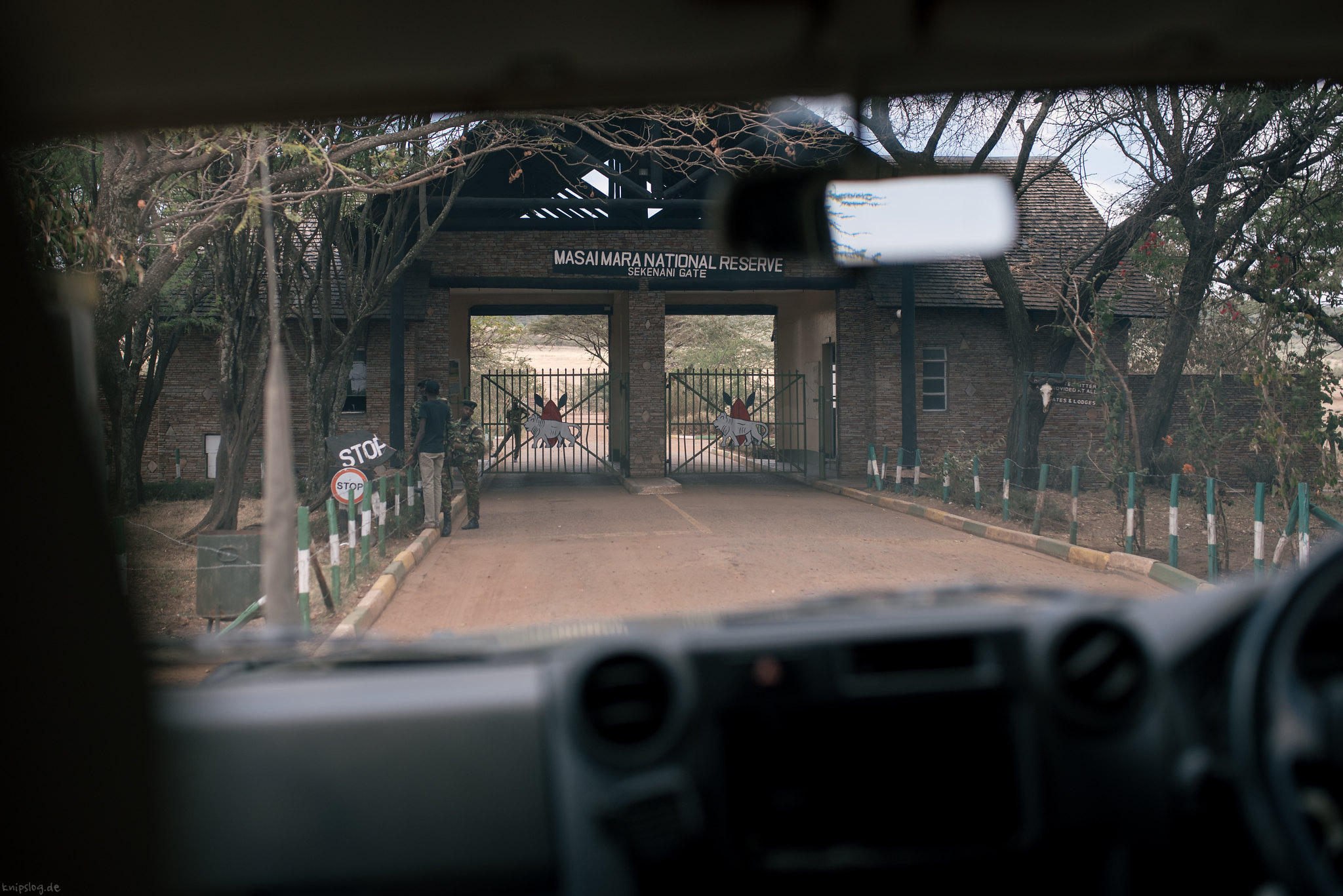 The entry to the famous Masai Mara