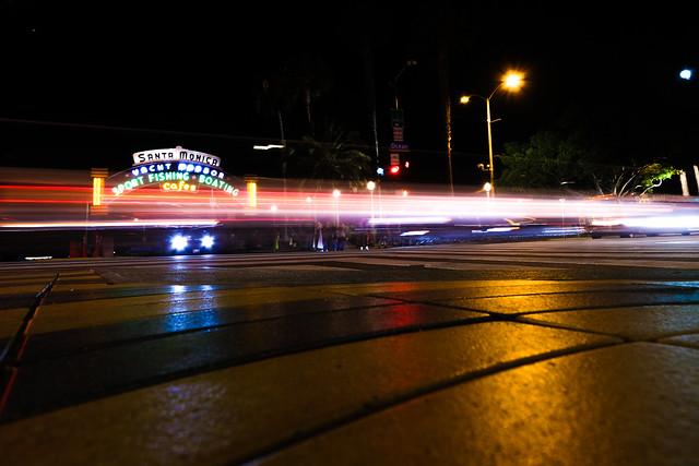 Santa Monica Light Streaks