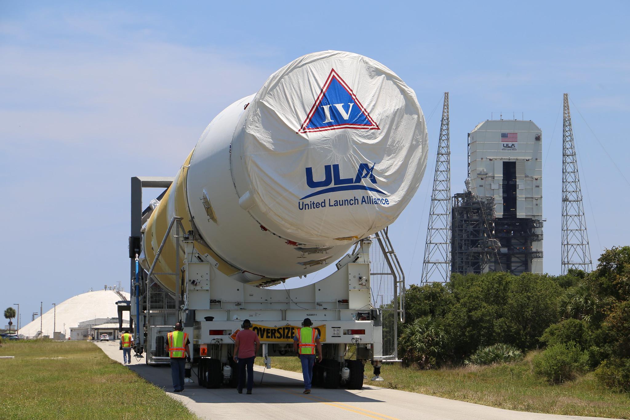 Launch Vehicle on Stand: GPS III SV-02