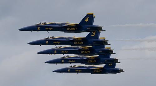 U. S. NAVY BLUE ANGELS, F-18 Hornet, Duluth Mn (DLH) 2019 Airshow