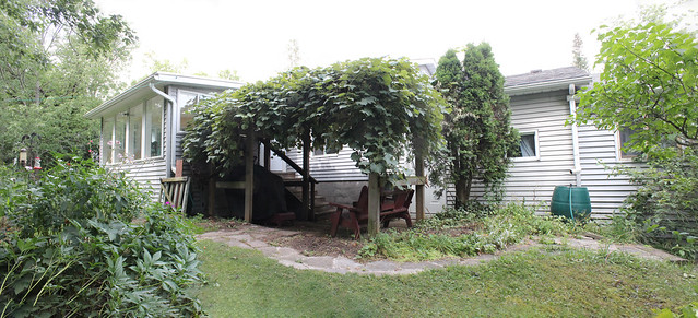 PANO Sunroom and Patio BEFORE Reno