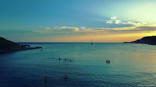 sunset beach bay portissol sanary provence côtedazur frenchriviera greenscene