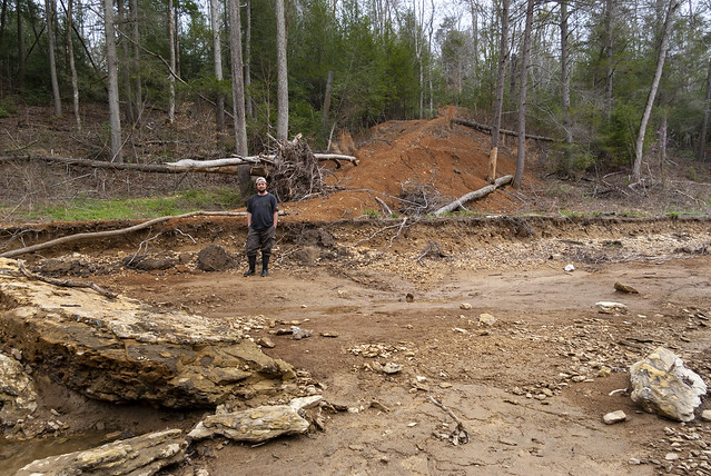 Flood damage, Blackburn Fork, Jackson County, Tennessee