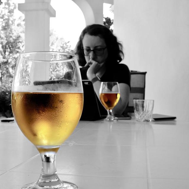 A beer before dinner