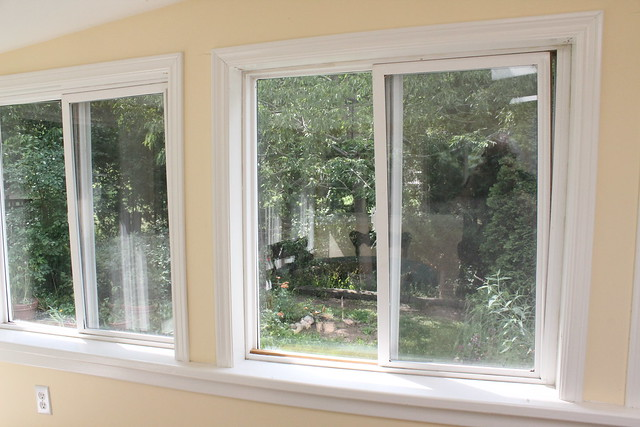 Crooked Windows (BEFORE Sunroom Reno)