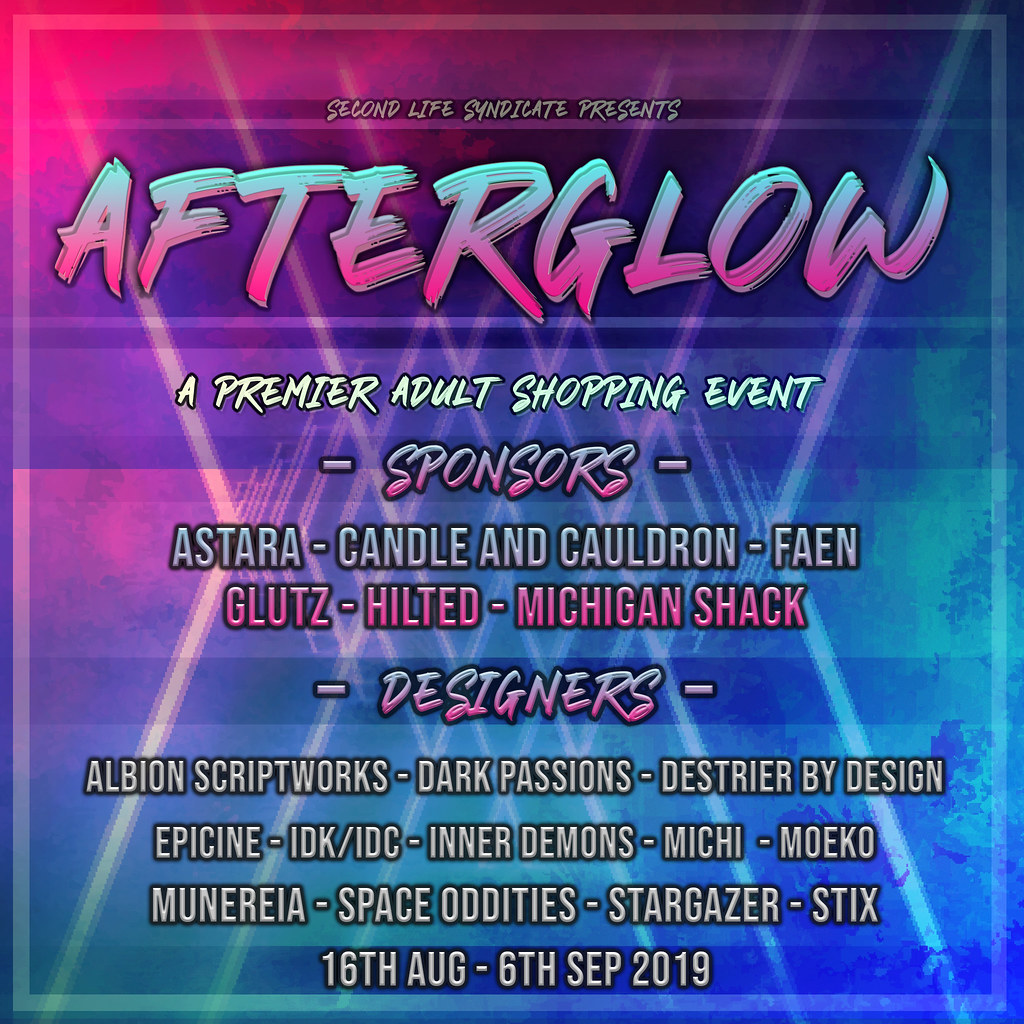 Afterglow Poster August 2019