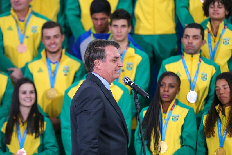 Medalhistas dos Jogos Pan-Americanos visitam o Palácio do Planalto