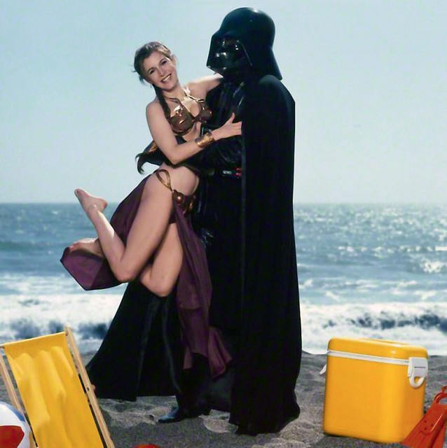 Carrie Fisher and Darth Vader from Rolling Stone's
