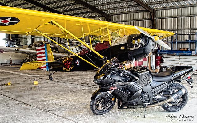 Massey Aerodrome Air Museum  - Kawasaki Ninja ZX-14
