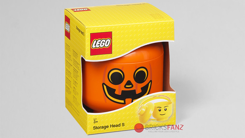 LEGO Pumpkin Minifigure Storage Head