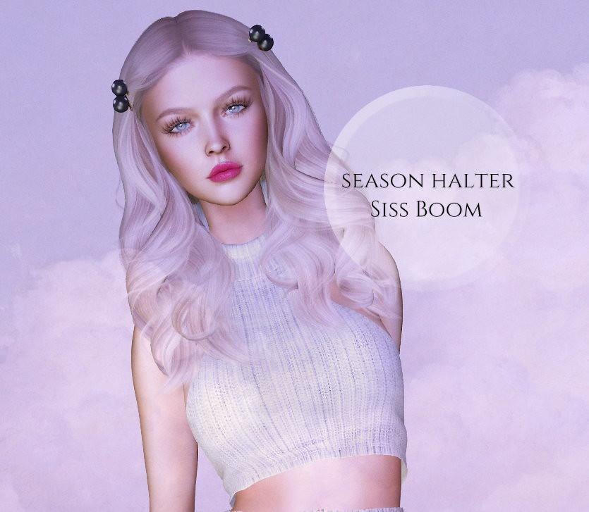 -siss boom-season halter white gg