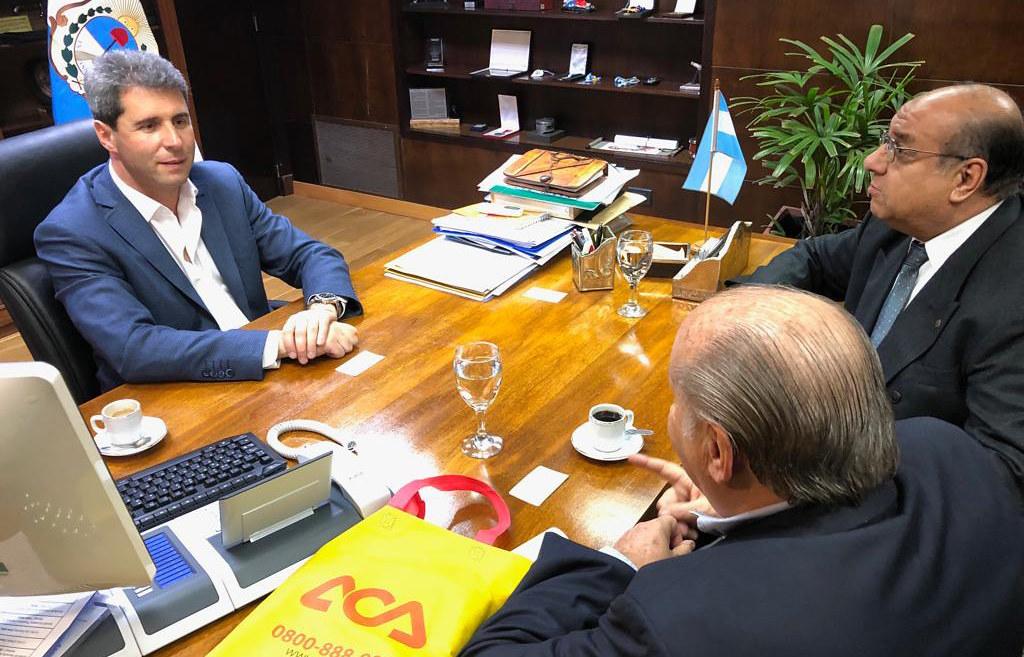 2019-08-16 PRENSA: Visita de autoridades del Automóvil Club Argentino A.C.A