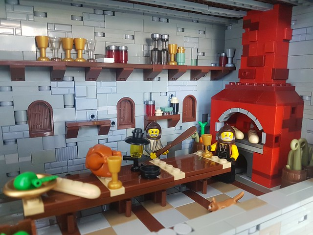 LEGO Castle kitchens