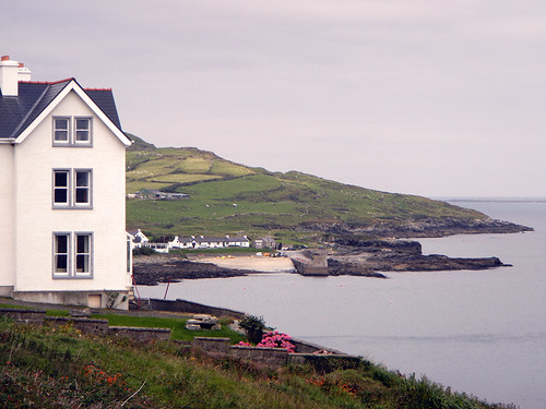 A white house in Portnoe, Ireland