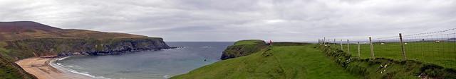 Panorama of Malin Beg Beach in Ireland