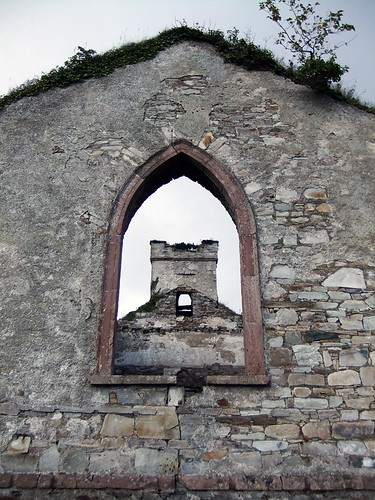 Abandoned church ruins on the Inishowen Peninsula in Ireland