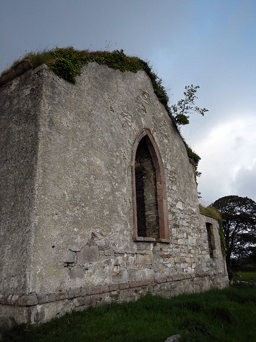Abandoned church on the Inishowen Peninsula in Ireland