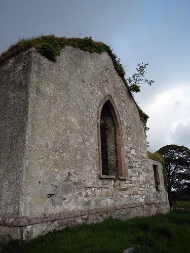 Abandoned church on the Inishowen Peninsula in Ireland