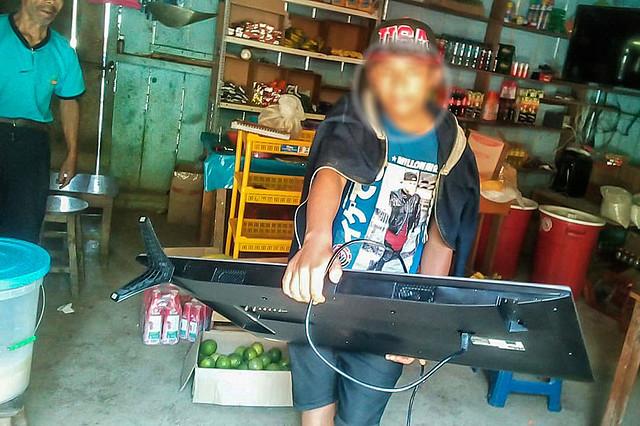Seguridad ciudadana recupera equipos robados de I.E. en Kepashiato