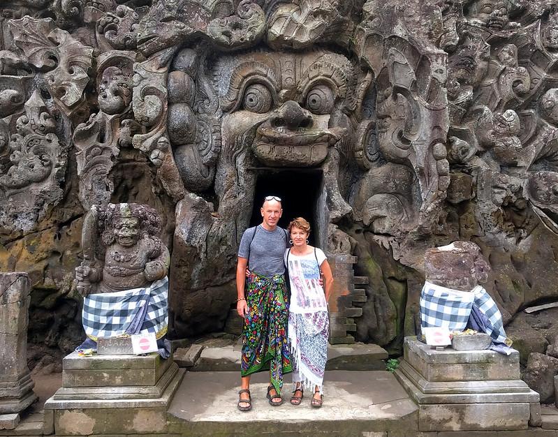 Entrada al Templo Pura Goa Gajah : Elephant Cave Temple.